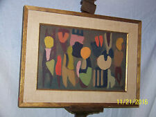 Martin Rosenthal American Listed Artist Mid Century Abstract Oil Painting