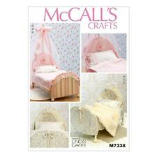 McCALL'S SEWING PATTERN CRAFTS CRAFTS 18 INCH DOLL BEDS  M7338
