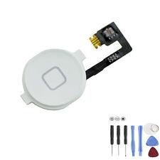 iPhone 4S Homebutton Menü Taste Knopf  Flex Kabel Home Button Weiß +