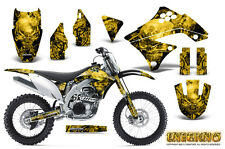 KAWASAKI KXF450 KX450F 09-11 GRAPHICS KIT CREATORX DECALS INFERNO Y
