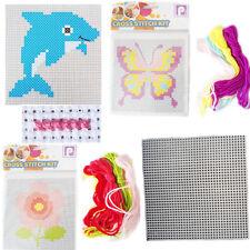 Kids Mini Cross Stitch Kit Creative Beginner Stitching Girls Learning Activity