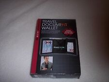 Travel Document Wallet, Passport, Drivers's License or Photo ID,Tri-fold