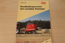158214) Vicon Rundballenpresse RV 1601 1901 Prospekt 200?