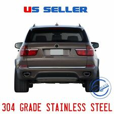 BMW X5 CHROME REAR TRUNK LID COVER TAILGATE PROTECTOR TRIM 2007-2013 S. STEEL