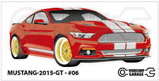 FORD MUSTANG 2015 GT - #06 - Sticker