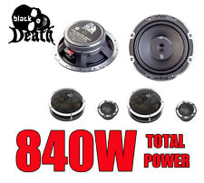 "Vibe Black Death 6C Component 6.5"" 165mm 2-way Car Audio Speakers 840W Total New"