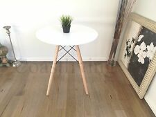 Brand New Replica natural White 70cm Round  Eames Side dining table