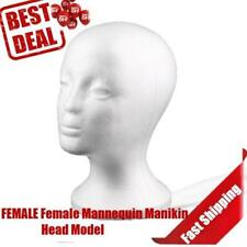 White Foam Dummy Wig Hat Cap Display Stand Mannequin Head Female Selling Hot FE