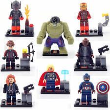 THOR IRON MAN HULK CAPTAIN AMERICA Super Heroes 8 Minifigures Building Toys Lego