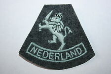 FREE DUTCH NEDERLAND AIR FORCE RAF CLOTH PATCH WW2 PATTERN NETHERLAND COPY