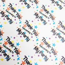 35 Star Thank You for Coming to My Party Stickers Sweet Cone Party Bag Labels
