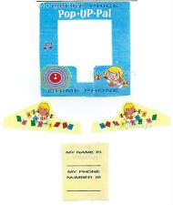 FISHER-PRICE POP-UP PAL CHIME PHONE REPLACEMENT LITHOS (STICKERS DECALS) #150