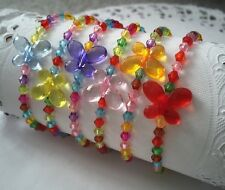 6 Kids Butterfly Bracelets/beads/girl Accecories/party bag Filler