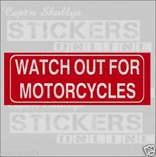 WATCH OUT MOTORBIKE DECAL 210x75mm Capt'n Skullys Stickers Online MPN 2030 M/PUR