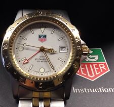 Vintage Tag Heuer 155.706 GMT F1 Twin Time Explorer Style Stunning Rare Full Set