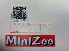 100 Munzee MiniZee QR Code WHITE Generic Stickers FAST FREE SHIPPING
