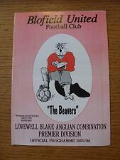 03/02/1996 Blofield United v Kirkley  (Faint Crease)
