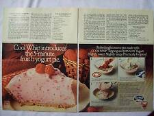 1979 Magazine Advertisement Page For Cool Whip Dannon Yogurt Pie Vintage Ad