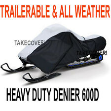 Deluxe Trailerable All Weather Snowmobile Cover Large 2 persons Heavy Duty 600D