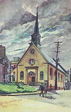 Église Notre Dame des Victoires QUEBEC QC Canada Carte Signée L E Cuvelier ©1927