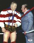 Bob Backlund Signed 8x10 Photo PSA/DNA COA WWE Auto'd Picture w/ Arnold Skaaland
