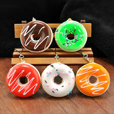 Fashion Cute Kawaii Donuts Soft Squishy Colorful Cell phone Charms Chain Straps
