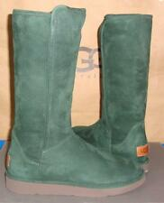 UGG CLASSIC LUXE Collection ABREE Verde Green Suede Boots Size US 7 NIB 1009256