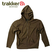 TRAKKER - Elite Zipped Hoodie Hoody Sweater - Olive Green - Fishing Angling - XL