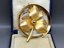 Beautiful Ecco Gold Filled Flower Brooch
