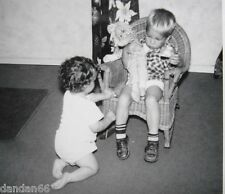 Cute Curly Hair 1yr old baby Boy wants blonde brothers 1950 dolly PHOTO vintage