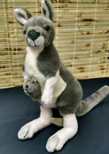 Kangaroo and Joey Plush Doll-- high quality- Self- standing. Australia,