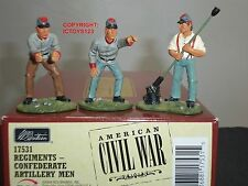 BRITAINS 17531 CONFEDERATE INFANTRY ARTILLERY MEN METAL TOY SOLDIER FIGURE SET