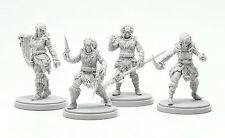 4 x KIT ARMURE LION  - KINGDOM DEATH MONSTER miniature rpg jdr WHITE ARMOR