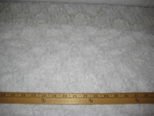 """PURE WHITE FLORAL 4 WAY STRETCH 100% POLYESTER MESH/NET FABRIC 62"""" W BY THE YARD"""