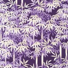 """Cherry Blossoms Bamboo Purple 100% cotton 44"""" Fabric by the yard (36"""")"""