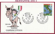 ITALIA FDC  NAPOLI CAMPIONE D'ITALIA 1989 - 90 1990 ANNULLO T75