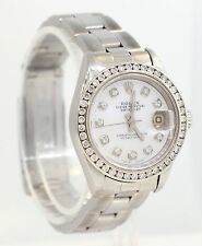 GORGEOUS LADIES SS ROLEX DATEJUST WATCH WITH DIAMONDS! EXCEPTIONAL! #M55
