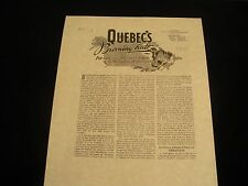 """VERY RARE 1946 """"QUEBEC'S BURNING HATE"""" tract persecution Watchtower IBSA Jehovah"""