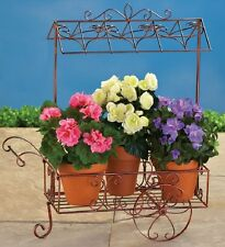 Garden Cart Plant Pot Holder Stand Indoor Outdoor Porch Patio Yard Decor