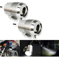2x 30W CREE U2 LED HeadLight Spot Fog Lights Motorcycle ATV 4X4 Bike Car Chrome