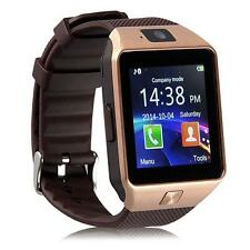 Bluetooth montre Smart Watch téléphone GSM Carte SIM pour iPhone Android OR DC