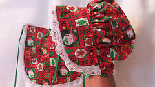 ADULT BABY SISSY CHRISTMAS BONNET AND BIB SET HOPE
