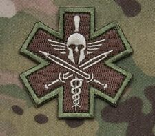 SPARTAN MULTICAM TACTICAL COMBAT MEDIC BADGE MORALE MILITARY PATCH