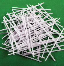 Limpiadores De Pipa chenille Blanco tallos artesanías de 6 Pulgadas x 4mm 15cm X 100