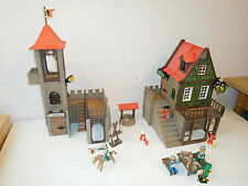 Playmobil medieval taverne custom made unikat like 3448 + 3445 french version