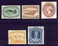 NEWFOUNDLAND #24P-31P India Proofs - 1865 2c - 24c Pictorials