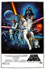 Star Wars Movie Poster 70's One Sheet Art Poster Print 24x36 inch Large