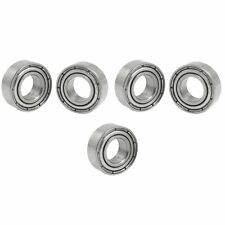 5 Pcs Double Sealed 7 x 14 x 5mm Deep Groove Ball Bearing Silver Tone