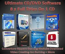CD/DVD SOFTWARE MASTERIZZAZIONE Ripping convertire DVD Creazione di YouTube Downloader mp3