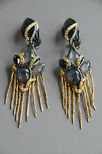 NEW Alexis Bittar Crystals  yellow gold-plated Swarovski Chandelier Earrings